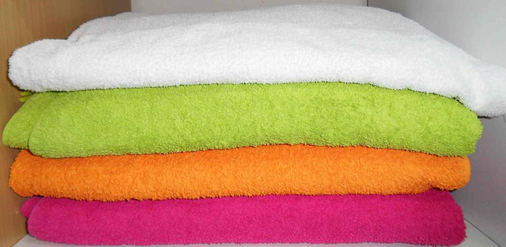Cambio de toallas y sábanas en hoteles.